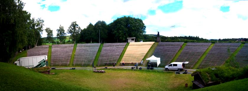 Spelet om heilag Olav 2011 Amfiet uten publikum
